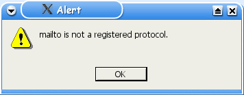 mailto is not a registered protocol